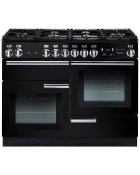 Rangemaster Professional+ Range Cooker 110 Gas Gloss Black PROP110NGFGB/C 91980