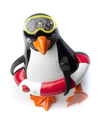 Steepletone Penguin PSR5 BT Shower Radio with Bluetooth- Red