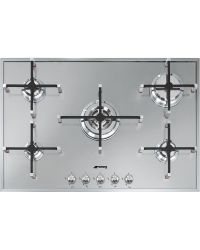 SMEG PX7502 Gas Hob Black with Stainless Trim