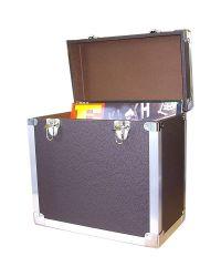 Steepletone SRB2 Black Record Case (Holds 50 LPs in Sleeves