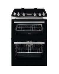 Zanussi ZCI66288XA 60cm Electric Double Oven with Induction Hob