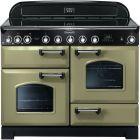 Rangemaster Classic Deluxe Range Cooker 110 Ceramic Olive Green CDL110ECOG/C 100940