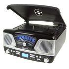 Steepletone Roxy 4 Black 60'S Style Retro 3-Speed Record Player