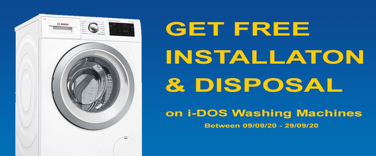 Bosch Free Installation & Disposal