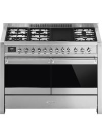 Smeg Opera Range Cooker 120 Dual Fuel Stainless A4-81