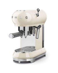 SMEG ECF01CRUK Cream Retro Style Coffee Machine