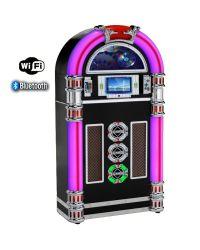 Steepletone Touch Rock 50 MW Black Floor Standing Jukebox